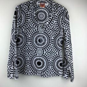 Tory Burch Sample Black and White Blouse